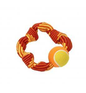 BUSTER Colour Squeak Rope Circle