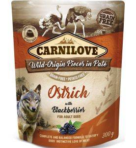 Carnilove Pouch Pate Ostrich & Blackberiries
