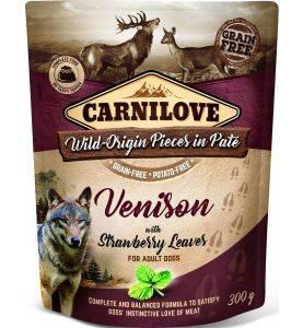Carnilove Pouch Pate Venison & Strawberry Leaves