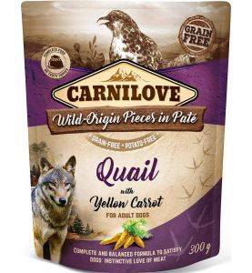 Carnilove Pouch Pate Quail & Yellow Carrot