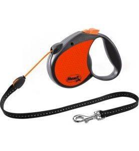 Flexi Neon Reflect Snor 5M Orange