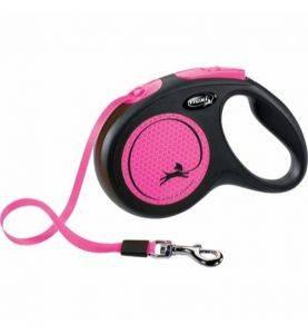 Flexi New Neon Bånd 5M Sort/Pink