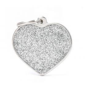 MyFamily Hundetegn Hjerte Shine Sølv