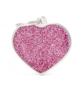 MyFamily Hundetegn Shine Hjerte Pink