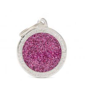 MyFamily Hundetegn Shine Cirkel Pink