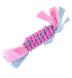 KW Legetøj Log M/Fleece Pink