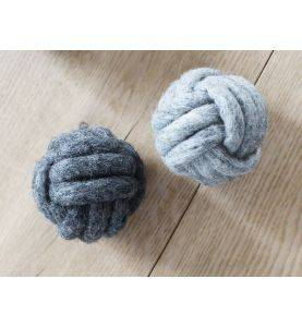 Wooldot Knotted Ball Charcoal Grey